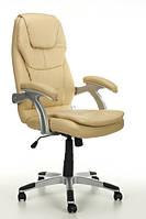 Офисное кресло THORNET бежевое кожаное