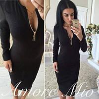 Женское облегающее платье Черного цвета