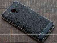 TPU чехол Fulltao для Meizu M3s Wood Texture Black + пленка