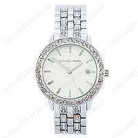 Женские наручные часы Michael Kors Silver-White-Silver