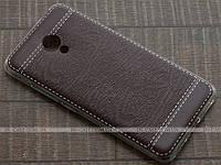 TPU чехол Fulltao для Meizu M3s Wood Texture Brown + пленка