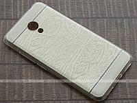TPU чехол Fulltao для Meizu M3s Wood Texture Gold + пленка