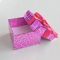 Подарочная коробочка для украшений, кольца розовая рептилия 1шт