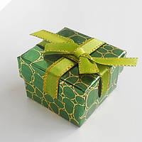Подарочная коробочка для украшений, кольца зеленая рептилия 1шт