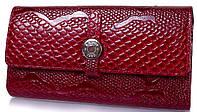 Оригинальный женскийкошелек из кожи под змеюKARYA(КАРИЯ)SHI1144-019 Красный