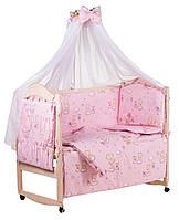 Детская кроватка для новорожденного с матрасом и постелью