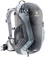 Надежный черный вело-рюкзак на 20 л. Bike One 20 DEUTER 32082 7490, черно-серый