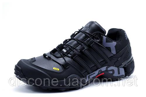 Зимние мужские кроссовки Adidas Terrex, на меху, черные, р. 41