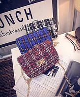 Твидовая вязанная Fashion сумка сундучок