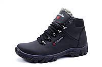 Зимние мужские ботинки Columbia, на меху, натуральная кожа, черные, р. 41 43