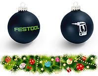 Рождественские и Новогодние украшения, стеклянные шары с логотипом Festool
