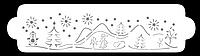 """Трафарет для декорирования """"Зима"""" Martellato (40-W172)"""