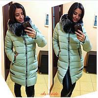 Женская приталенная зимняя куртка (3 цвета)