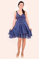 Сарафан, платье, интернет магазин женской одежды, хлопок , летний ,молодежный ,по колено, Пл 114 .