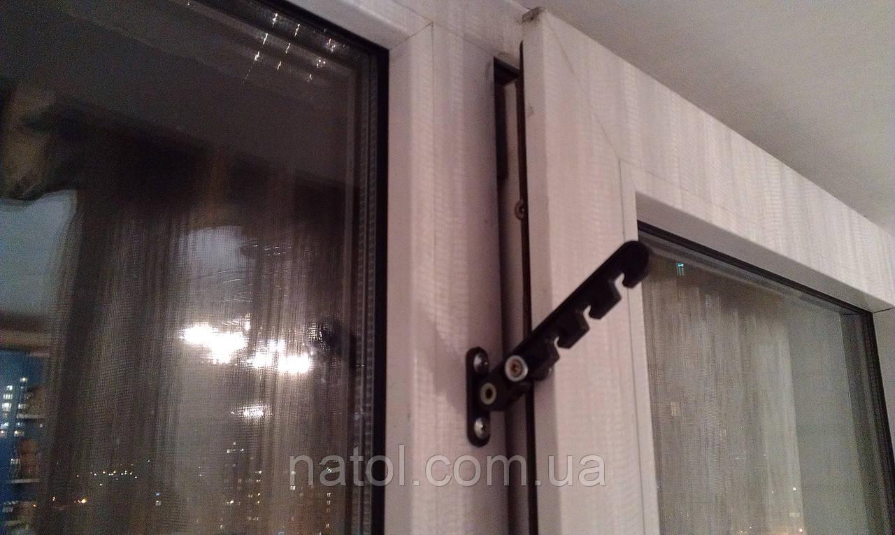 Фиксатор окна, гребенка, ограничитель открывания створки.: 6.