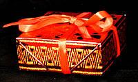 Упаковка подарочная c лентой красная 02-R