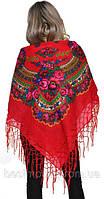 Платок большой- оригинал с бахромой плетеной