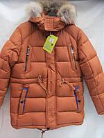 Куртка парка детская коричневая