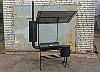 Мангал коптильня с печью для казана