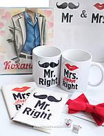 """Набор """"Любимому Мистеру"""" шоколадный набор+запонки с бабочкой+чашки,обложки на паспорт+папка для свидетельсва"""