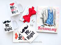 """Набор """"Любимому Мистеру2""""шоколадный набор+запонки с бабочкой+чашки,обложки на паспорт+папка для свид"""