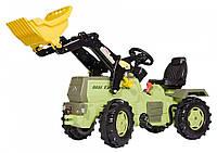 Педальный трактор с ковшом и тормозом Rolly Toys Farmtrac MB Trac 1500 оливковый