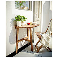 ASKHOLMEN Столик настенный 1 состоят из костной ткани, посетителей, зов, серовато базы морилка