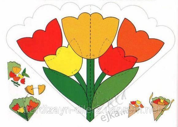 Детские поделлки рисунки открытки к 8 марта
