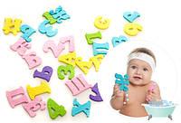Набор для игры во время купания в ванной АБВ буквы и цифры