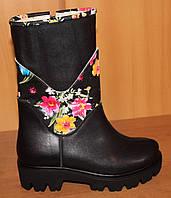 Детские сапоги зима для девочки кожаные, детские сапоги зимние обувь кожаная от производителя
