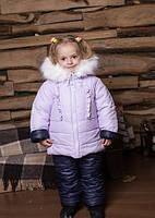 Детские мягкие, легкие, теплющие комбинезоны на овчине для девочек р.86-104