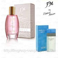 Духи для женщин FM 33 аромат Dolce Gabbana Light Blue (Дольче Габбана Лайт) Парфюм Federico Mahora