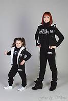 Утепленный  спортивный костюм тройка для девочки, 3-4, 5-6, 7-8, 9-10, 11-12 лет