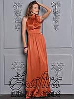 Легкое сатиновое платье без рукавов