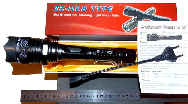 Электрошокер ZZ 1108 Titan Professional 10000 В (Шокер Титан 1108 самый мощный)+Инструкция на русском языке - фото 3