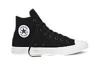 Кеды унисекс Converse Chuck Taylor All Star II High (black/white) - 06Z оригинал