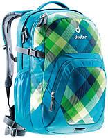 """Повседневный молодежный рюкзак на 28 л с отделение для ноутбука 15,4"""" Graduate DEUTER,  3216 petrol crosscheck"""