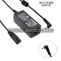 Блок питания для ноутбука Asus Eee PC 1001HA 19V 2.1A 40W 3.0х1.0 (B)