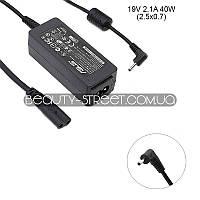 Блок питания для ноутбука Asus Eee PC 1001HA 19V 2.1A 40W 2.5x0.7 (B)