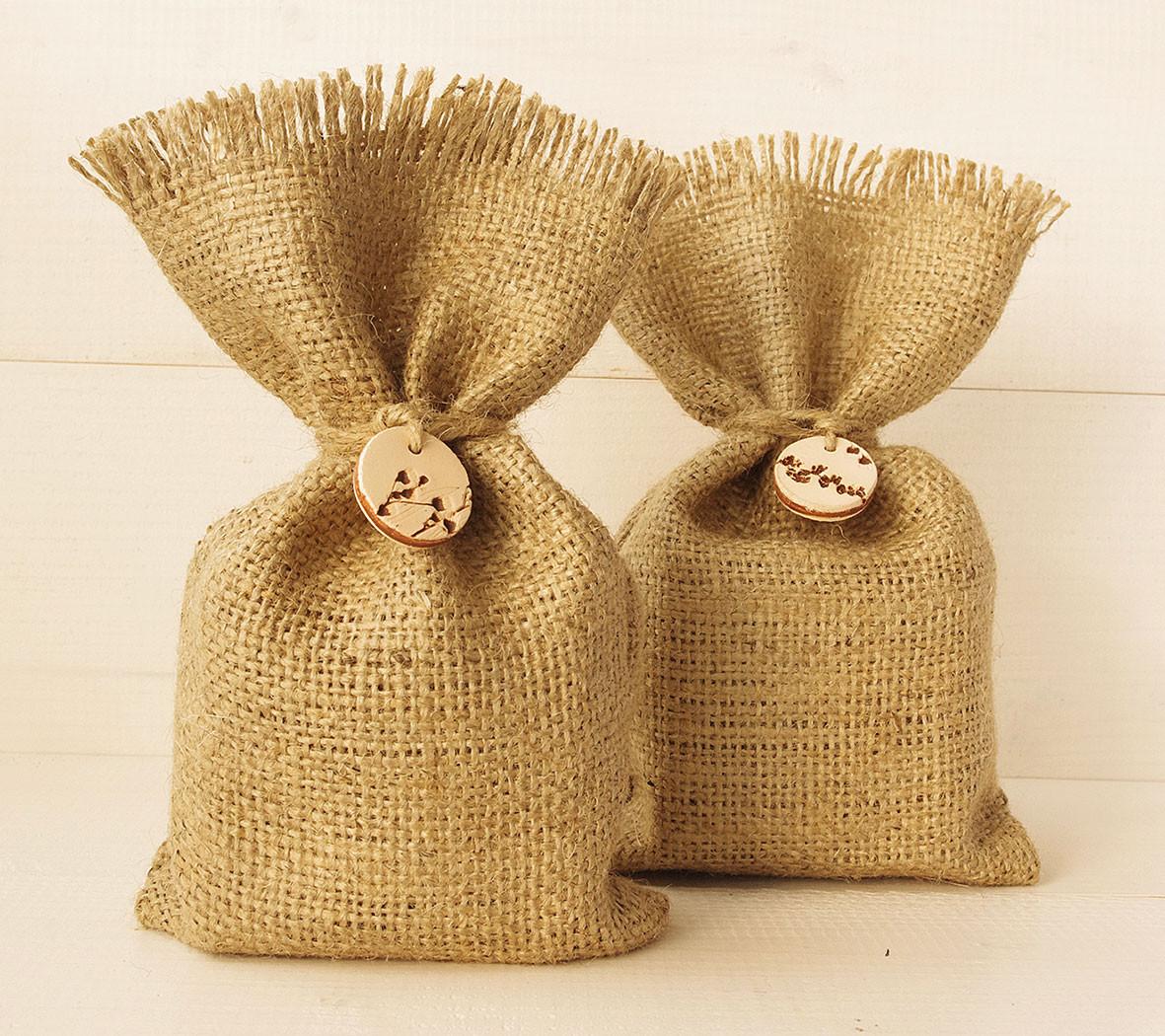 Купить оптом мешочки из мешковины