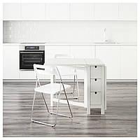 NORDEN / NISSE Стол и 2 складных стула, белый