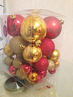 Набор новогодних шаров / пластик
