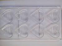 """Форма для конфет поликарбонат""""сердце"""" (код 02536)"""