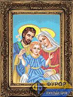 """Схема иконы для вышивки бисером на габардине """"Святое Семейство"""" (Арт. ИБ4-137-1)"""
