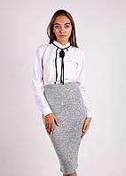 Молодежная женская юбка-карандаш с высокой талией