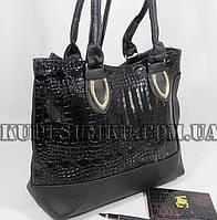 Оригинальная комбинированная сумка  из кожзама
