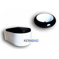Раковина для ванной KERABAD КВW100WS+унитаз KERABAD КВ65WS