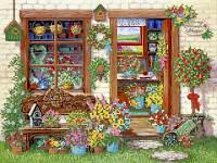 Схема для вышивки бисером Цветочный магазин