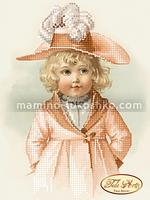 Схема для вышивки бисером Малышка Эльза