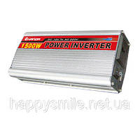 Инвертор, преобразователь, инвертор напряжения 12/220V - 1500W, фото 1